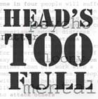 CD Cover for Head's Too Full